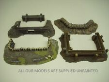 Wargames scenery. 5 piece set of earthworks/emplacements for 28mm (setC) 845