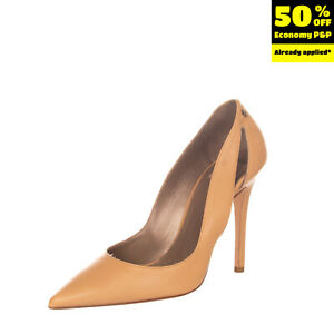 RRP €200 BETTY BLUE Leather Court Shoes EU 39 UK 6 US 9 Cut Out Made in Italy
