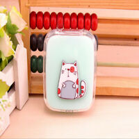 Cute Animal Mini Travel Contact Lens Case Box Container Holder Eye Care Kit G