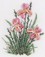 Irises Brazilian embroidery kit #1423 - EdMar threads/choose fabric color