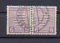 SBZ 76 Yb 6 Pfg. Paar seltene Farbe rötlichgrauviolett gest. gepr. Ströh (xs38)