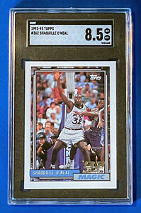 1992 Topps Shaquille O'Neal #362 RC SGC 8.5 Freshly Graded! Orlando Magic HOF!