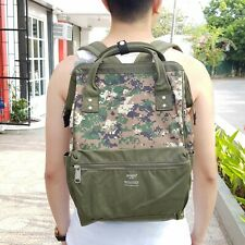 Anello Digital Camouflage Canvas Backpack - Green