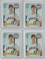(4) Card Lot 2018 Topps Heritage High Number Shohei Ohtani Rookie RC Angels #600