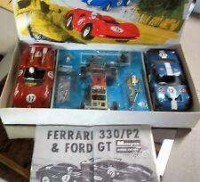 MONOGRAM VINTAGE FORD GT & FERRARI 1/24 1/25 Slot Car Chassis & 2 Bodies Box COX