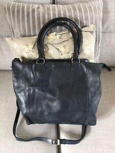 Ashwood Navy Leather Tote/Shoulder Bag Good Condition