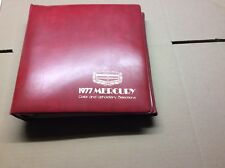 1977 Mercury  All Models Color And Upholstery Book