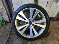 "18"" Genuine VW chicago Alloy Wheel + Tyre 235/40R183c0601025an Eos Passat Cc #GX"