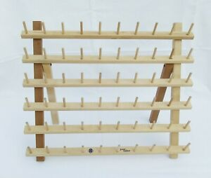 Wooden June Tailor 60 Spool Thread Holder Organizer Rack Stand Wall Hanger Craft