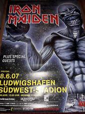 Iron Maiden 2007 Rare Konzert Plakat Concert Callejon Poster Ludwigshafen 84cm