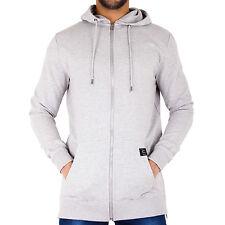 Long Line Hoody Slim Fit Zip Up Hooded Jacket Tracksuit Sweatshirt Mens Women AD