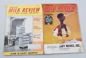 Vintage American Milk Review Magazine Advertisements Memorabilia Photos Lot of 2