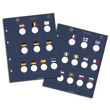 2 Feuilles Numismatiques VISTA,pour pièces commémo de 2 Euros 10 ans Réf  341624