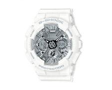 Casio G-Shock Anadigi Black Metallic Face Ladies' White Watch GMAS120MF-7A1DR