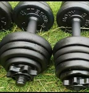 Dumbbells Weights Gym Equipment 26 cast iron plate for bench press dumbell 10