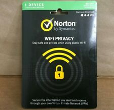 Symantec Norton WiFi Privacy 1.0 Subscription Card 1-Year, 1 User 21370810 ✅ NEW