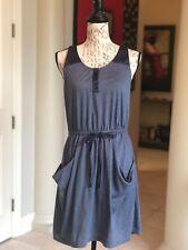 iLook Collection Blue T-Back Tank Dress Sz. M