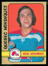 1972-73 OPC O PEE CHEE WHA #320 MICHEL ARCHAMBAULT NM QUEBEC NORDIQUES HOCKEY