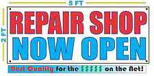 Repair Shop Now Open Banner Sign New Larger Size Best Quality for the $