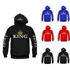 US Lover Couple Hoodies KING and QUEEN Hoodie Hooded Jumper Sweater Tops shirt
