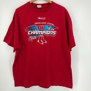 Lee Sport T-Shirt Men's 2XL Red Boston Red Sox World Series 2007