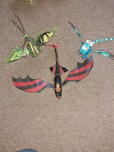 Rare How To Train Your Dragon Toothless Racing Stripes Dragons Bundle figures