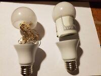 x 2 Light Bulb Hidden Storage Secret Diversion Stash  *Non-Glass-Unbreakable*