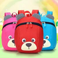 Kids Bear School Backpack Cartoon Bag Toddler Children Baby Shoulder Anti Lost