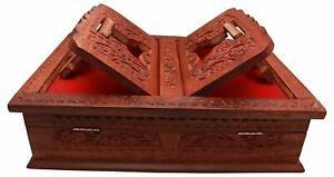 Holy Books Stand For Geeta/ Ramayan/ Bible/ Quran Decorative Wooden Rehal Box