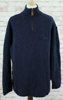 FAT FACE Wool Blend 1/4 Zip Pullover Jumper size Large