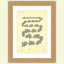 Lovely Babar the elephant A3 Satin Print poster reproduction Illustration No.1