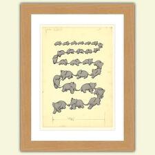 Delizioso Babar il elefante A3 Raso Stampa poster riproduzione Illustrazione N°1