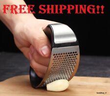 Garlic Press Grinder Kitchen Stainless Steel Curved Home Chopper Slicer HandTool