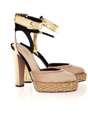 GIUSEPPE ZANOTTI for VIONNET satin and metallic leather sandals size 37