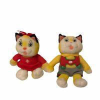 "2 Richard Scarry Busytown Plush Toys 6"" Sally Cat Huckle Cat EUC Excellent"