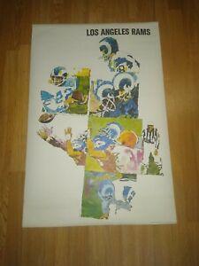 Vintage 1968 Los Angeles Rams poster. Mint in sleeve!