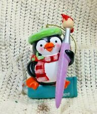 2012 Michaels Craft Store Penguin Painter Christmas Tree Ornament