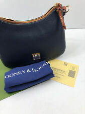 Dooney & Bourke Becket Small Riley Hobo Midnight Blue Pebbled Leather Purse NWT