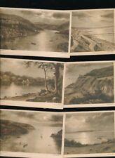 Devon Isle of Wight artist Andrew Beer moonlight scenes x10 c1900/20s? PPCs