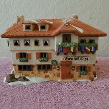 Department 56 House Gasthof Eisl 1986 Porcelain Alpine Village Series 65404.Mc