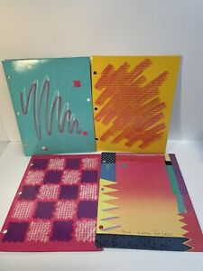vintage trapper keeper and brite lites 1980s folders lot of 4