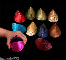 New 10pcs Silk Fortune Cookie Coin Purse Mix Color Case Squeeze Chinese Ring Bag