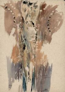 ST. DAVIDS WALL PAINTING STUDY Watercolour Painting - H CLARENCE WHAITE 1929