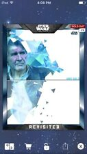 Topps Star Wars Digital Card Trader Blue FA Revisited Han Solo Insert Award