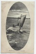 Buffalo NY Life Saving Crew Lake Erie 1909 Sail Boat Lake Erie