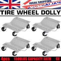 Wheel Dolly 4 Pcs PU Castors Vehicle Positioning Jack 1500 lbs Car Dollies