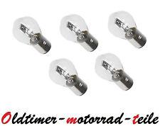 5 x 6V 35/35W Birne Lampe Glühlampe BA20D SIMSON Mofa Moped S51 S50 BMW NSU