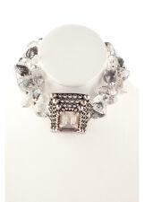 NEW STEPHEN DWECK SS Three Strand Rutilated Quartz Pearl Pendant Necklace $2285