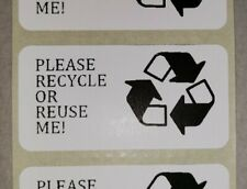 100 Please Recycle Or Reuse Me Stickers