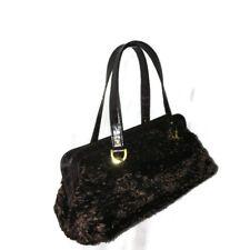 NEW Authentic KATE SPADE Brown Handbag Faux Lamb Fur/Leather Satchel Purse